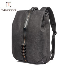 Tangcool Business Fashion Backpack with USB Charging Port Fits 15.6 inch Laptop Travel Backpack Water Resistant College Backpack(China)