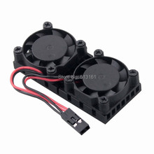 Wholesale 200pcs Gdstime Raspberry Pi2 Pi3 NESPI Ultimate Dual Fan Heatsink Cooler Cooling