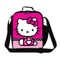 Portable Small Picnic Bags Hello Kitty Cute Kids Cartoon Cooler Lunch Bag Girls Thermal Insulation Lunches Box Meal Package
