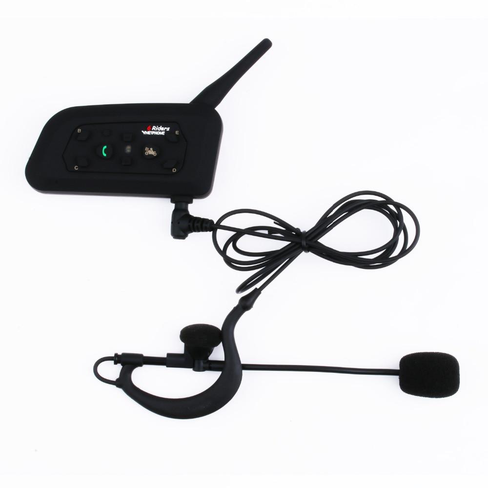 Vnetphone V4C 1200m Full-duplex Handfree Stereo Headset Bluetooth Interphone with FM radio headphone for Referee 4 User Intercom
