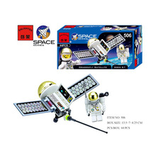 Dragonfly Satellite Enlighten Building Block Set 3D Construction Brick Toys Educational toy for Children