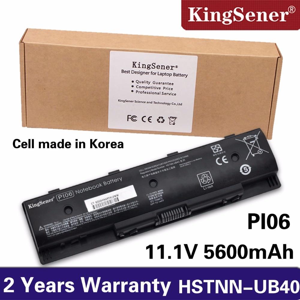 Korea Cell KingSener PI06 Laptop Battery for HP Pavilion 14 Pavilion 15 Series PI06 PI09 HSTNN-UB4N HSTNN-UB4O 710416-001 62WH lmdtk new 6cells laptop battery for hp envy 14 15 17 touchsmart 17z series p106 pi06 pi06xl pi09 free shipping