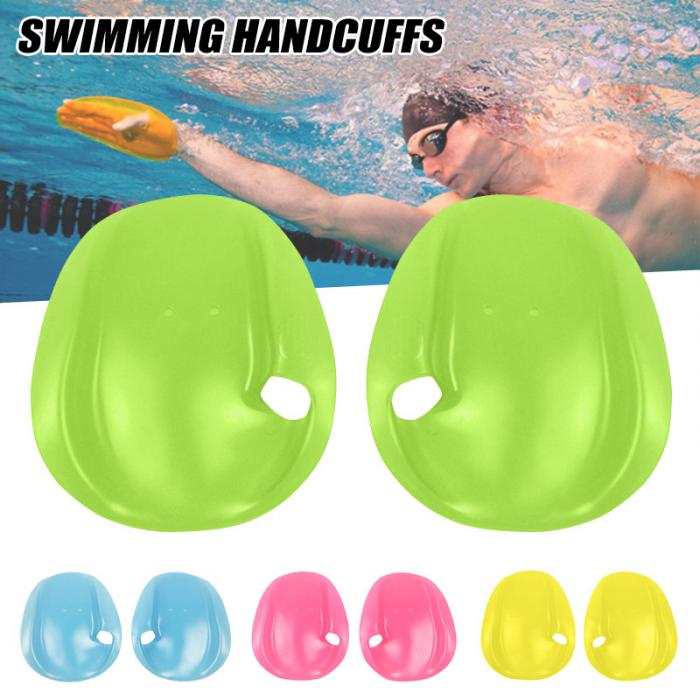 1 Pair Swimming Paddles Translucent PC Hand Webbed Gloves Beginner Hand Fin Training Dive Paddle Gloves Paddles Water Sport