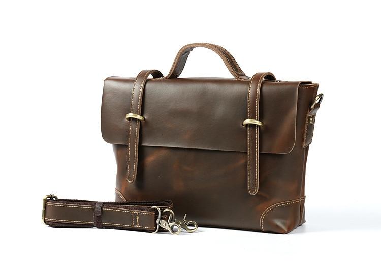 High Quality Genuine Leather Bag Business Men Bags Laptop Tote Briefcases Crossbody Bags Shoulder Handbag Man Messenger Bag
