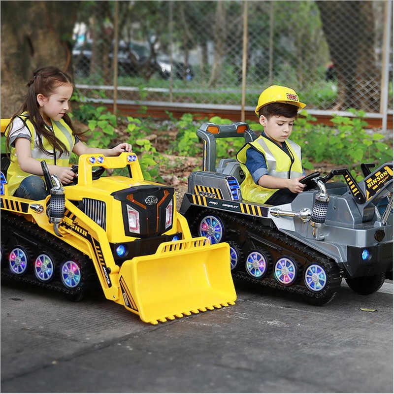 Puede Sentarse Juguete Ingeniería Niños Camión Eléctrica Excavadora Fengda Bulldozer Grande Niño Juguetes Para Coche PwNX8nO0k