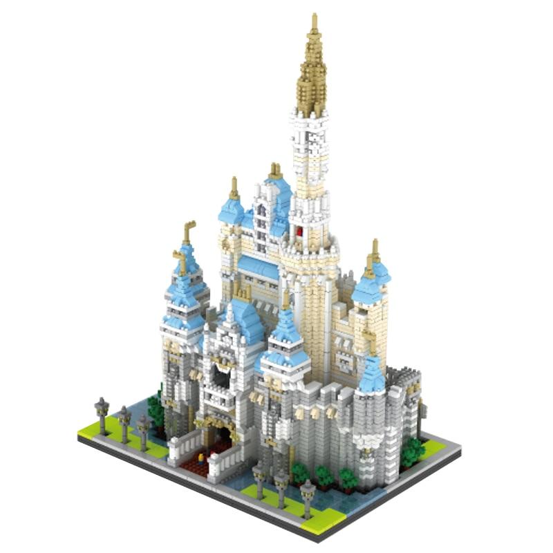 Cinderella Princess Legoing Architecture Castle Sets Park Building Blocks City Models Bricks Children Toys Girls