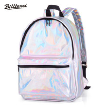 ФОТО billtera holographic backpack female 2018 spring summer new style backpacks for adolescent girls waterproof laser bag for school
