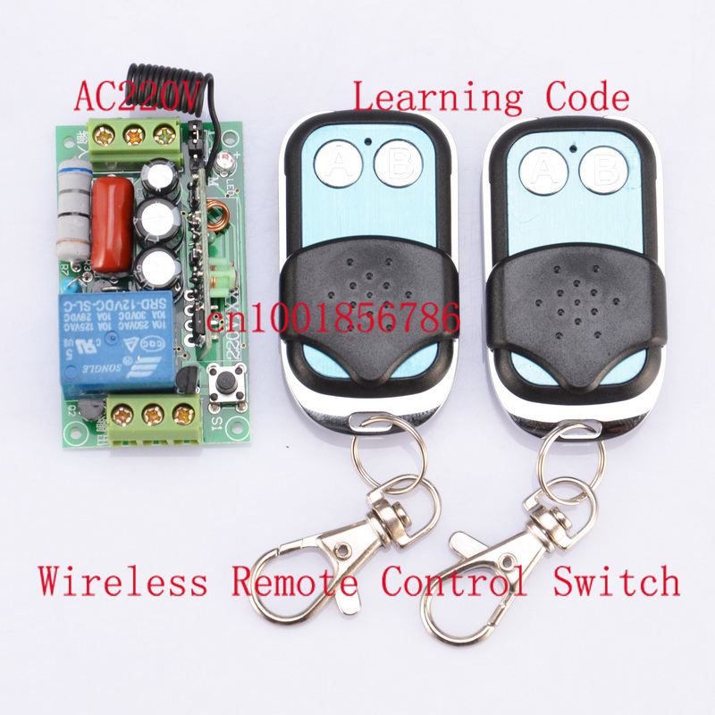 220V 1CH Wireless Remote Control  Power Switch System 1 Receiver& 2 Transmitter with metal controlle 315MHZ/433MZH wireless pager system 433 92mhz wireless restaurant table buzzer with monitor and watch receiver 3 display 42 call button