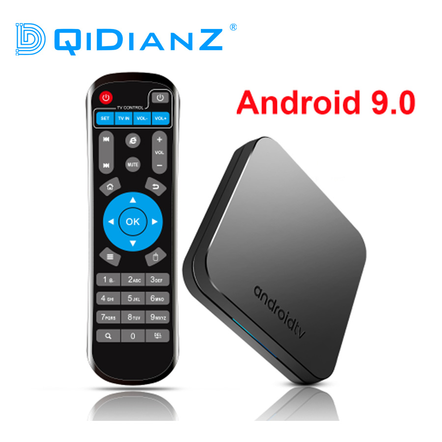DQiDianZ KM9 Android 9.0 Smart TV Box Amlogic S905X2 Quad core CPU DDR4 4GB RAM 32GB ROM BT 4.1 2.4/5G double bande WiFi 4K UHD-in Décodeurs TV from Electronique    1