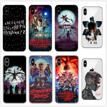 Thin Soft TPU Christmas Lights Stranger Things Pattern Case For Apple iPhone 8 X 6 6S 7 Plus 5 5S SE  Phone Cover