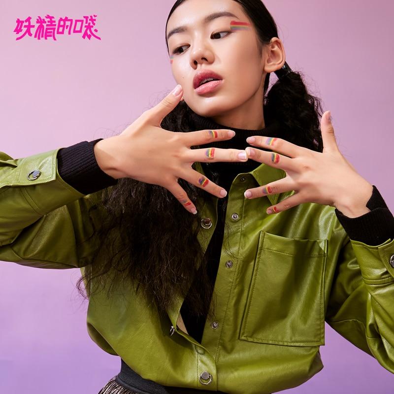 ELF SAC Coréenne Style Nouvelle Femme Chemises Casual Solides Manches Longues Femmes Blouse Turn-down Collar Streetwear Vintage Femme blouse