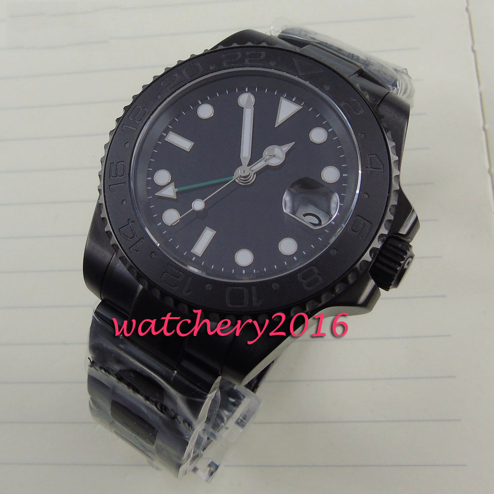 new 40mm parnis black dial PVD case GMT white numbers sapphire glass date window Automatic movement Men's business Watch 20 sets makeup brush set foundation liquid powder eyeshadow eyeliner lip concealer blending brush beauty fish cosmetics tools