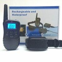 ماء قابلة عن صدمة كهربائية مكافحة النباح الكلب التدريب الياقة lcd 998dr الأزرق blacklight الخيار