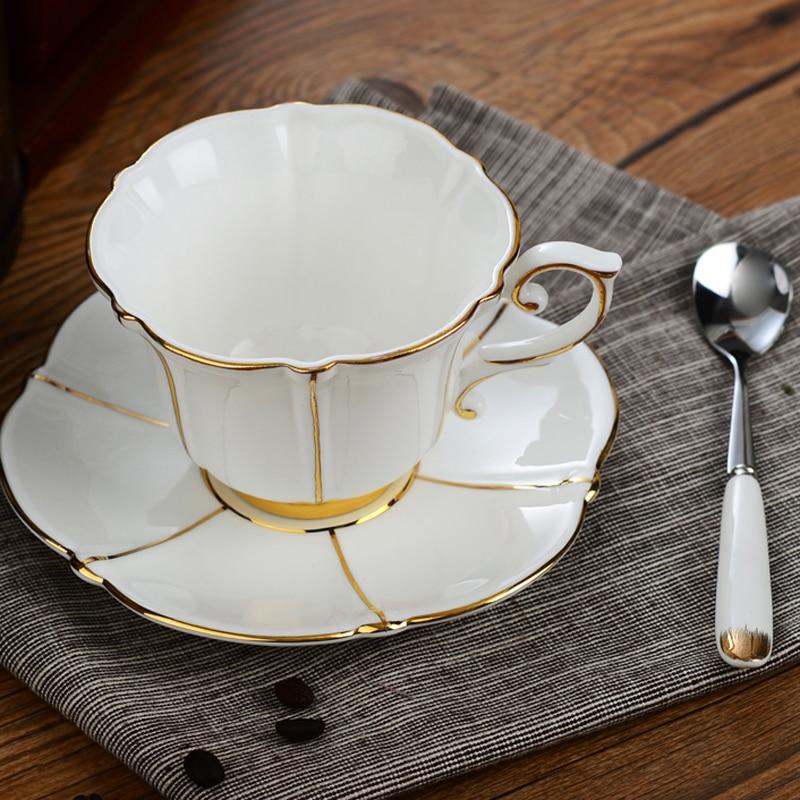 Fine Bone China Tea Coffee Cup Set British Royal Black Tea Cups And Saucers Ceramic Coffee Cup Premium Porcelain Teacup Set Gift
