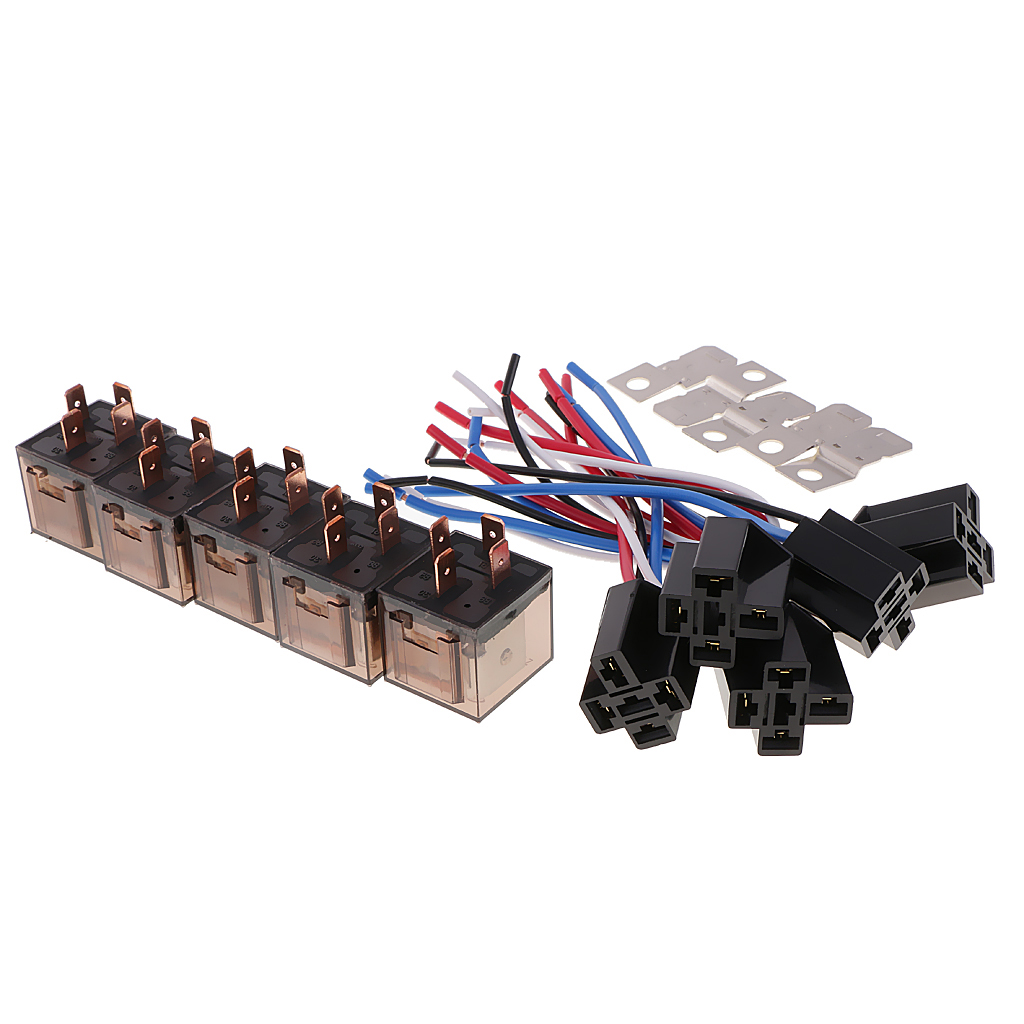 hight resolution of 5 pieces dc12v 80amp car spst automotive relay 4 pin 4 wires harness socket in relays from home improvement on aliexpress com alibaba group