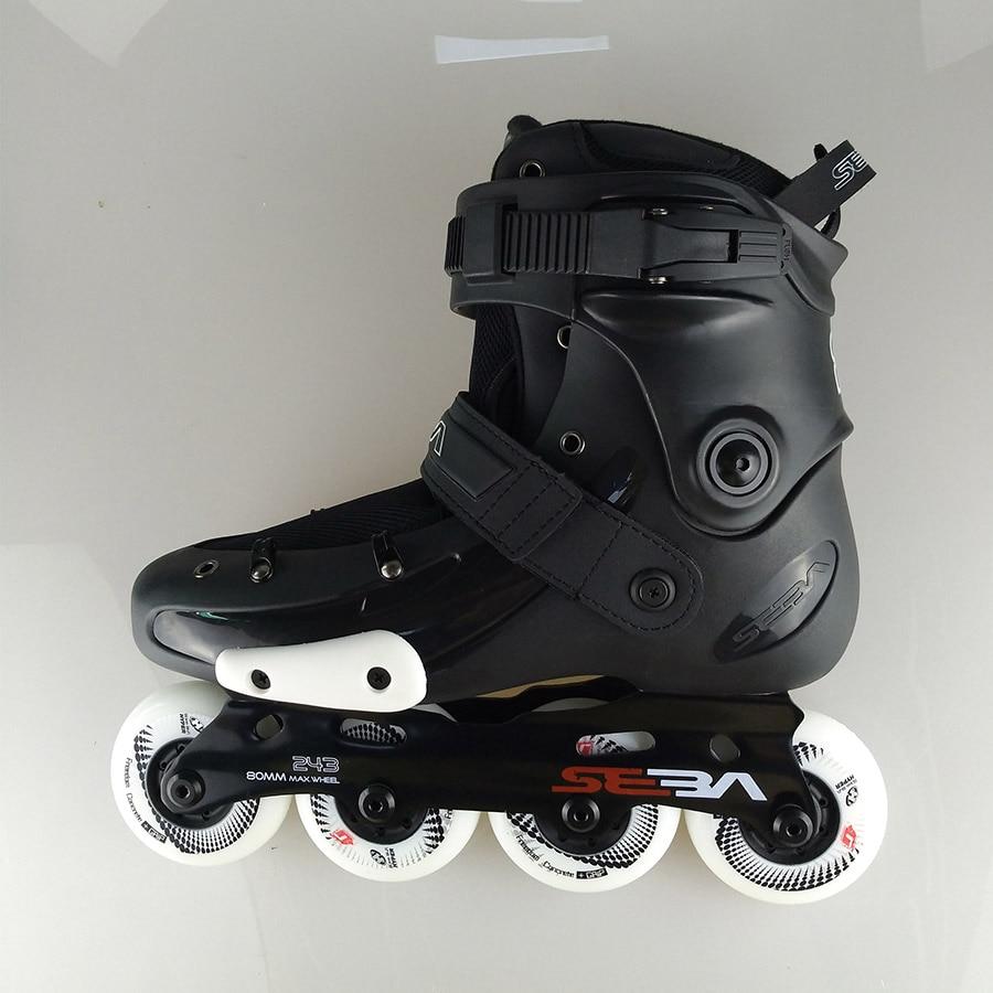 2019 zelfsluitende Speed Inline Skates Boot EUR Size 29 45 Koolstofvezel Professionele Concurrentie Racing Schaatsen Schoenen patines - 2