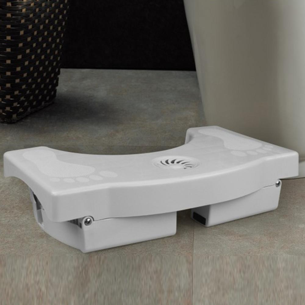 Image 3 - Toilet Foot Stool Bathroom Anti Constipation For Kids Foldable Plastic Footstool Squatting Stool Toilet  (no air freshener)-in Bathroom Chairs & Stools from Furniture