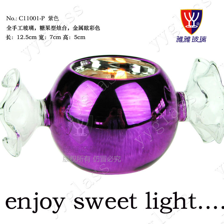 Candy Sweet Light Crystal Glass Candlestick Romantic Candlelight Dinner Candle Holders Wedding Decoration Christmas In Pain Candles & Holders