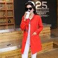 Europea tallas grandes ropa 2016 nueva marca otoño invierno mujeres abrigo moda delgado de la manga completa capa de foso Tops S-5XL FB129