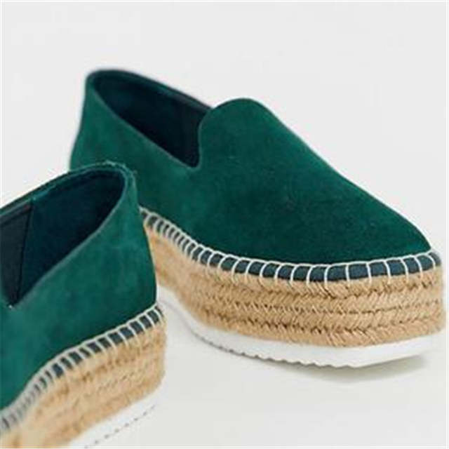 8b6503e50e6 HEFLASHOR Faux Suede Espadrilles Shoes Casual Loafers Women Flats 2019  Ballet Flats Ladies Zapatos Mujer