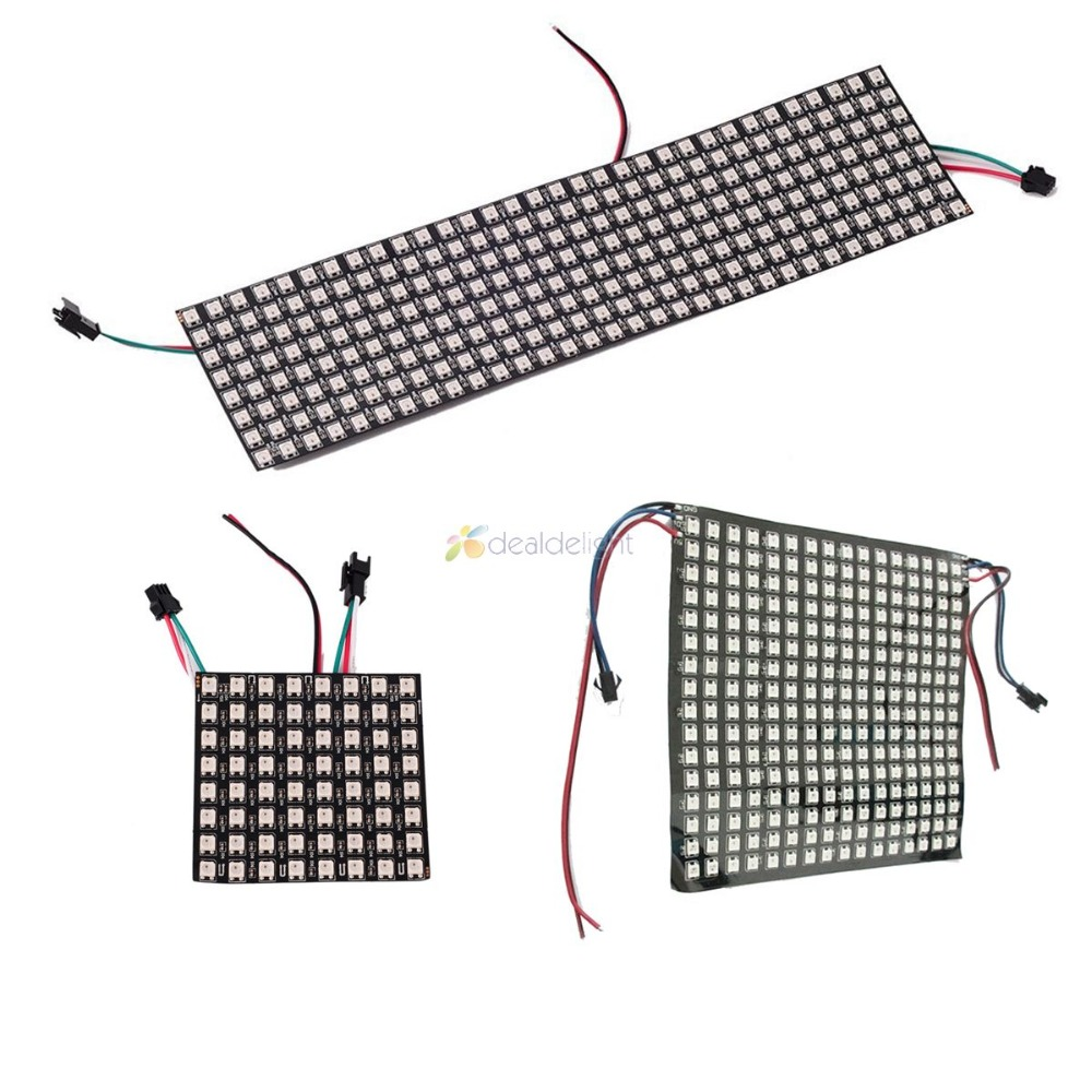 цена на WS2812B Panel Screen 8*8,16*16,8*32 Pixel 256 Pixels Digital Flexible LED Programmed Individually Addressable Full Color DC5V