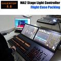 Gigertop MA 2 Controlador de Iluminação de Palco Console de DMX 2 TFT Telas Sensíveis Ao Toque de Largura Interna Midi/Comando De Entrada LTC Asa Negra Hourse