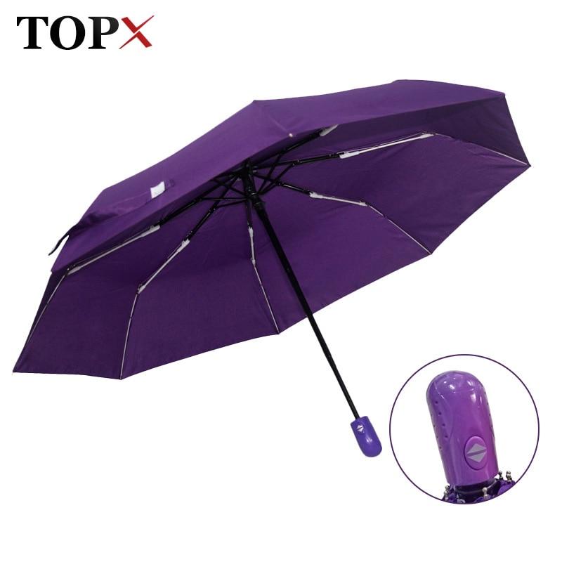Новый автоматический зонт дождя Для женщин Для мужчин 3 складной легкий и прочный сильный красочные Зонты дети Дождей Солнечный цена оптовой продажи