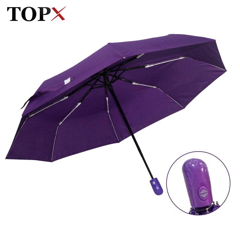 Nouveau Automatique Parapluie Pluie Femmes Hommes 3 Pliage Lumière et Durable Forte Coloré Parapluies Enfants Des Pluies Ensoleillé Gros Prix