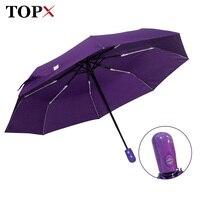 New Automatic Umbrella Rain Women Men 3Folding Light And Durable Strong Colourful Umbrellas Kids Rainy Sunny