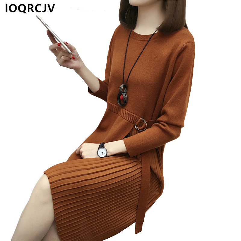 Women Sweater Dress Plus Size M 3XL Spring Autumn Long Loose Sexy Slim Bodycon Knitted Dresses