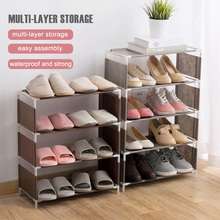 4/5 layers DIY shoes rack Organization Closet Storage Slipper Shoe Cabinet Housekeeping Assembly portable Stand Rack