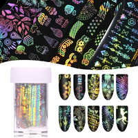 4cm*500m Holographic Starry Sky foil for nail Manicure Laser Pattern Nail Art Transfer Sticker DIY Nail Decorations