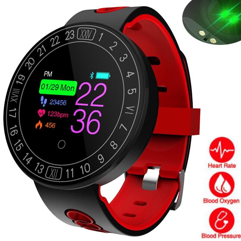 Bluetooth Smart Uhr Männer Frauen Herz Rate Monitor Blutdruck Wasserdichte Schrittzähler Sport Uhr Smartwatch Für Android Ios Noch Nicht VulgäR Digitale Uhren