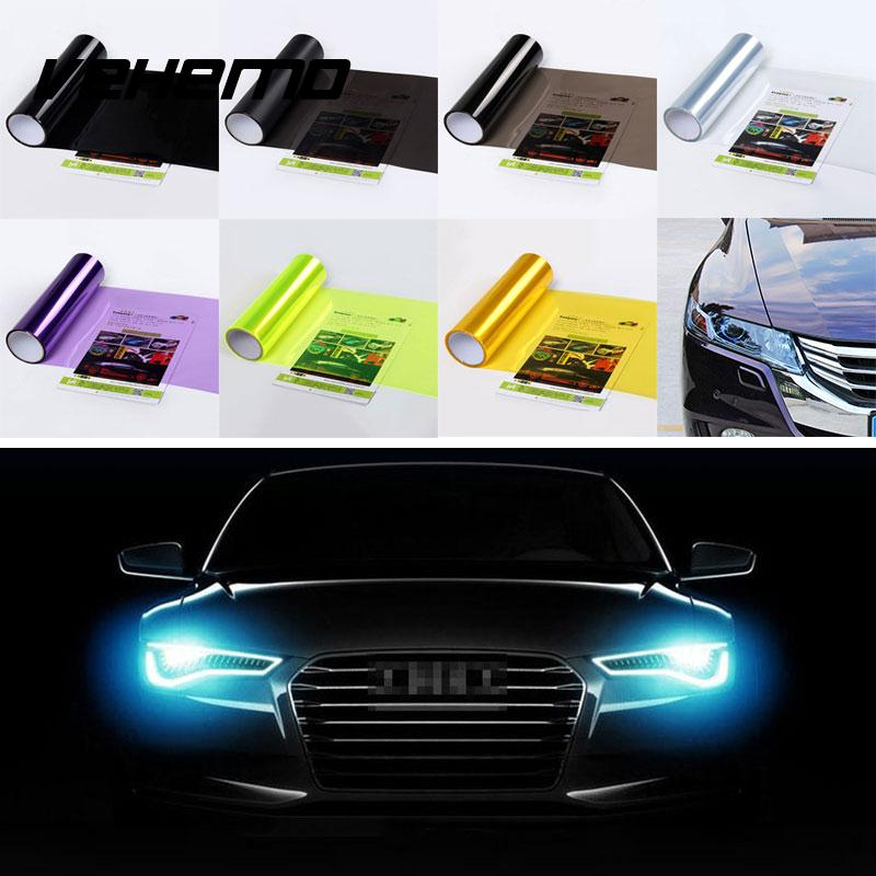 Auto Lamp Car Light Film Headlight 30CM x 60CM Sticker Color Change SafetyAuto Lamp Car Light Film Headlight 30CM x 60CM Sticker Color Change Safety