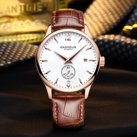 KASHIDUN Men Classic Watches Famous Top Brand Luxury Casual Dress Wristwatches Waterproof Watch Relogio Masculino Leather