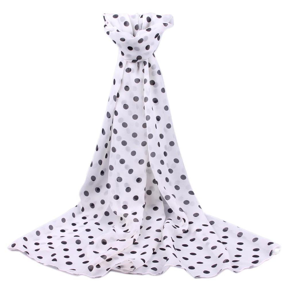 Women Long Wrap Shawl Polka Dot Chiffon Scarf Scarves Stole Scarf Spring Summer Soft Comfortable Scarves For Women Cachecol A9