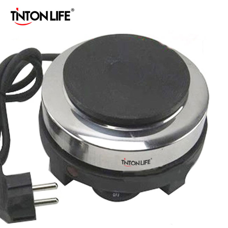 TINTON LIFE 500W Electric Mini Stove Hot Plate Multifunction Cooking Plate Coffee Heater household mini electric induction cooker portable hot pot plate stove dorm noodle water congee porridge heater office eu us plug