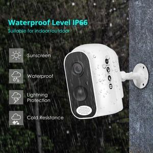 Image 2 - Hiseeu PIR 10400mA נטענת WIFI סוללה חיצוני IP מצלמה עמיד למים CCTV מלא 1080P זיהוי תנועה Microshare