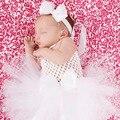 Little Angel Blanco Bautizo Bebé Mullido Tutus Tutu Vestido Vestido de Verano de Lujo para accesorios de Fotografía TS044
