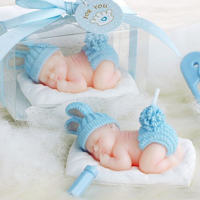 Sleeping Baby Angel Candle Baby Shower Baptism Party Favor