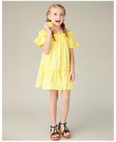 Детское платье, платье для девочек, милое детское хлопковое платье принцессы с воротником для девочек