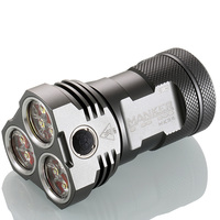 Manker MK34 Powerful Searchlight 8000LM 12x CREE XP G3 LED / 6500LM 12x Nichia 219B LED Flashlight Use 3x 18650 Battery