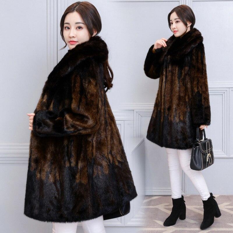 Moyen Vison Ms 3xl M Haute Photo Femmes 2018 Mode Color Manteau Long Nouvelles D'hiver De Taille Qualité Fourrure Grande Lâche AOgyyBqfW