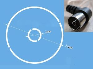Image 2 - 8FT Indoor FM Dipole  T shape Antenna,Copper Aerial HD Radio Female Pal Connector, 75 Ohm for Sony Chaine Stereo Receiver