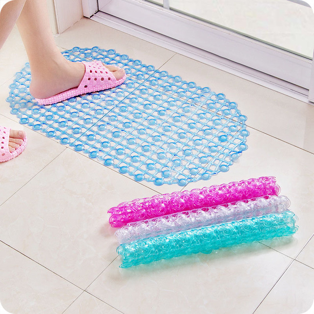 PVC Strong Non Slip Bathroom Bath Floor Shower Tub Mat Massage Pad Suction Cup Foot Massage TB Sale
