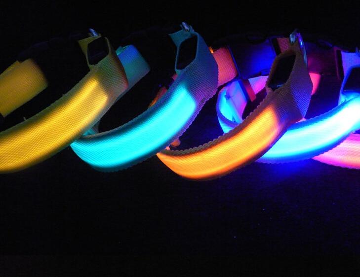 D07 Heyvan Köpək LED Yaxası Pet neylon yaxası parlaq yaxa LED - Ev heyvanları və zoo məhsullar - Fotoqrafiya 5