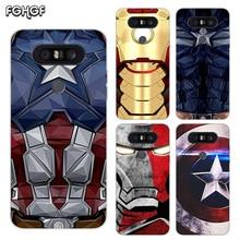Painted Pattern Soft Rubber TPU Case For LG Q8 Q7 Q6 G6 G7 G5 G4 V40 V30 V20 V10 Transparent Cover Captain Iron Man