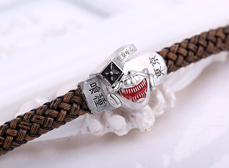 Top Julie tokyo ghoul kaneki ken mask logo bracciali braccialetti del  XL25