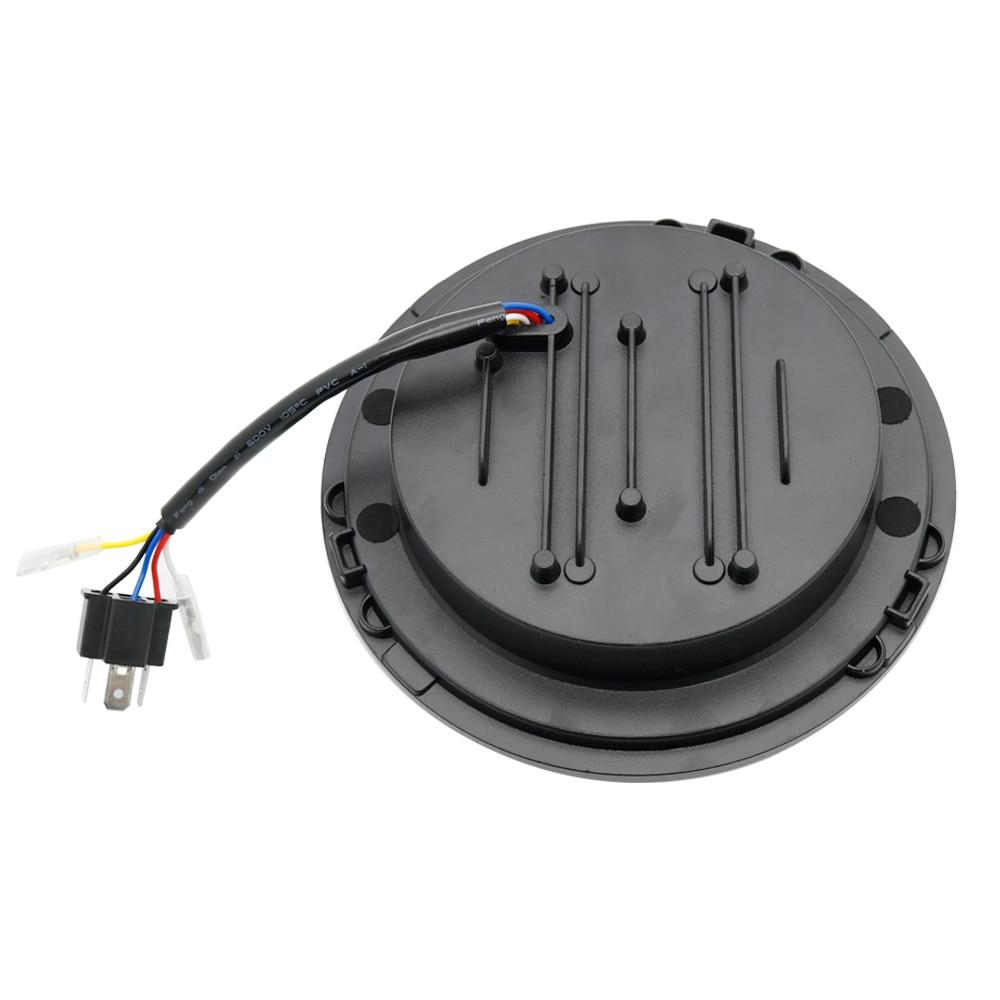 Newest 7 Inch LED Headlamp Halo Ring Amber Turn Signal For Lada Niva 4x4 Suzuki Samurai 7 LED DRL Halo Headlights For VAZ 2101 (2)