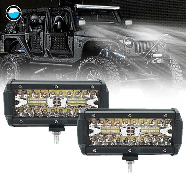 7 Inch 120W Combo Led Light Bars Spot Flood Beam 4x4 Spot 12V 24V 4WD Barra LED Headlight For Auto Boats SUV ATV iLight.